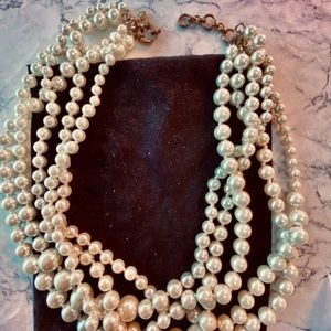 5 strand graduated pearl necklace